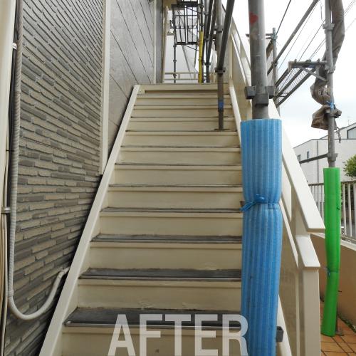 アパート 階段塗装